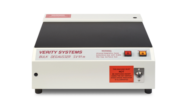 SV91 M Nato approved hard drive degausser by Verity Systems