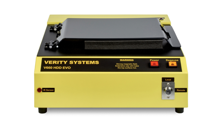 V660 Professional Hard Drive Degausser by Verity Systems