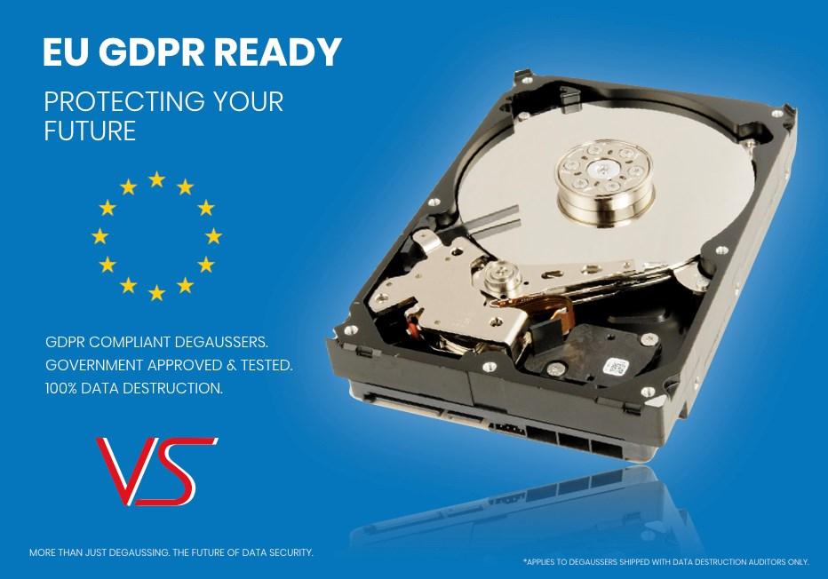 Hard Drive Degausser, Hard Drive Destruction - VS Security